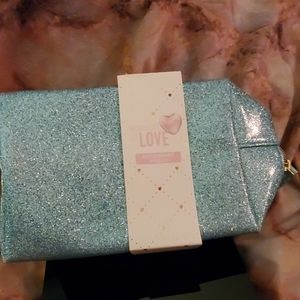 Glittery zip pouch , makeup, clutch anything